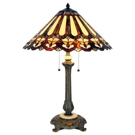 Tafellamp Tiffany ø 53*71 cm E27/max 2*60W Meerkleurig | 5LL-5614 | Clayre & Eef