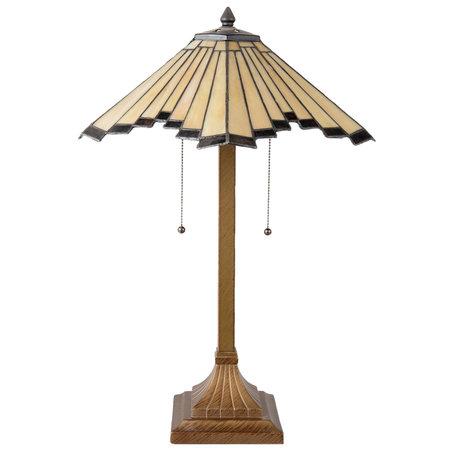 Tafellamp Tiffany ø 45*64 cm E27/max 2*60W Meerkleurig | 5LL-5735 | Clayre & Eef