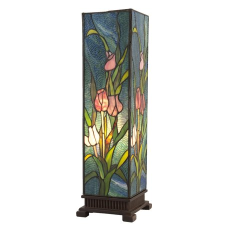 Tafellamp Tiffany 17*17*58 cm E27/max 1*60W Meerkleurig   5LL-5749   Clayre & Eef