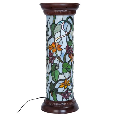 Zuil Tiffany ø 26*68 cm /E27/60W Meerkleurig | 5LL-5822 | Clayre & Eef