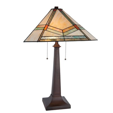 Tafellamp Tiffany 50*50*75 cm E27/max 2*60W Meerkleurig | 5LL-5841 | Clayre & Eef