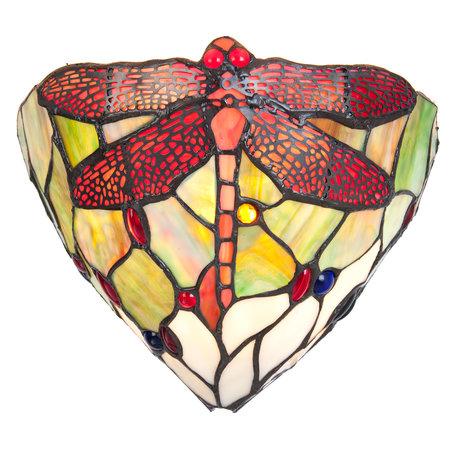 Wandlamp Tiffany 29*16*18 cm / E14/40W Meerkleurig | 5LL-5846 | Clayre & Eef