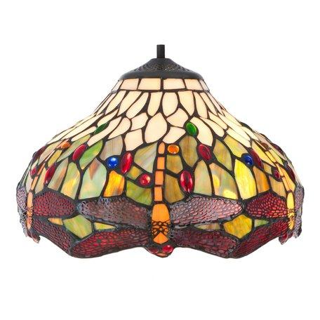 Lampenkap Tiffany ø 30*18 cm Meerkleurig | 5LL-5849 | Clayre & Eef