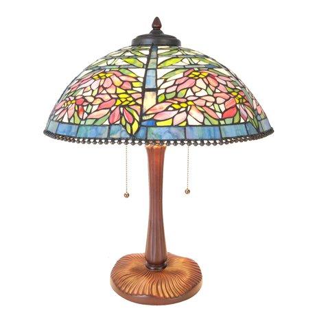 Tafellamp Tiffany ø 47*58 cm E27/max 3*60W Meerkleurig | 5LL-5873 | Clayre & Eef