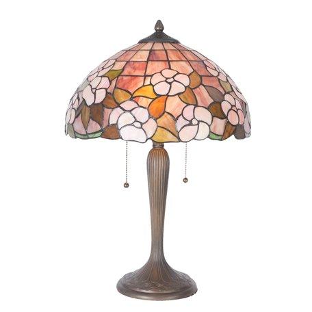 Tafellamp Tiffany ø 40*57 cm E27/max 2*60W Meerkleurig | 5LL-5875 | Clayre & Eef