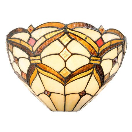 Wandlamp Tiffany 30*15*17 cm E14/max 1*40W Beige | 5LL-5886 | Clayre & Eef