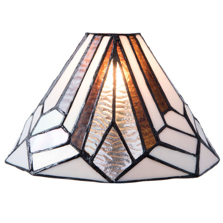 Lampenkap Tiffany ø 25*15 cm Meerkleurig | 5LL-5899 | Clayre & Eef