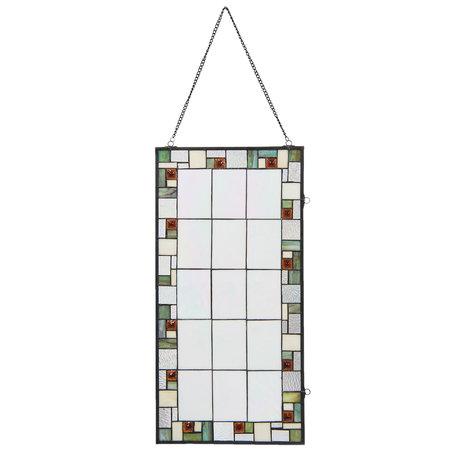 Glaspaneel Tiffany 40*1*80 cm Meerkleurig   5LL-5914   Clayre & Eef