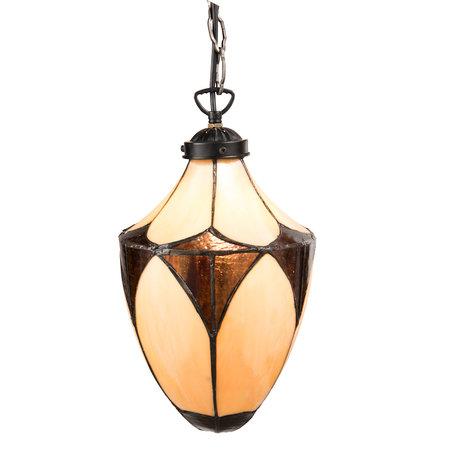 Hanglamp Tiffany ø 19*36 cm E14/max 1*40W Meerkleurig | 5LL-5916 | Clayre & Eef