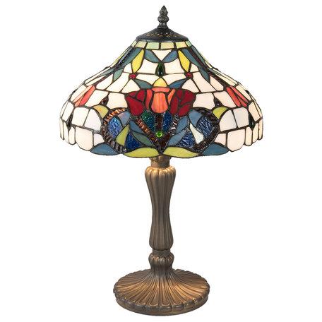 Tafellamp Tiffany ø 31*46 cm E14/max 2*40W Meerkleurig | 5LL-5919 | Clayre & Eef