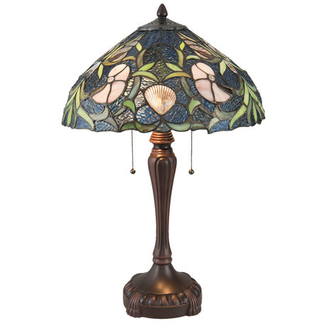 Tafellamp Tiffany ø 40*62 cm E27/max 2*60W Meerkleurig | 5LL-5921 | Clayre & Eef