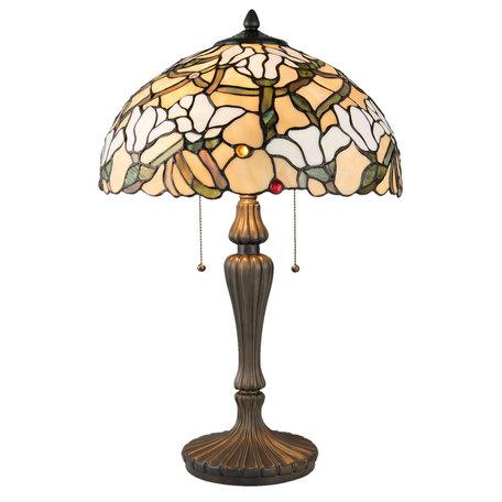 Tafellamp Tiffany ø 40*60 cm E27/max 2*60W Meerkleurig | 5LL-5923 | Clayre & Eef