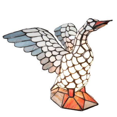 Tafellamp Tiffany 38*26*30 cm E14/max 1*40W Multi | 5LL-5928 | Clayre & Eef