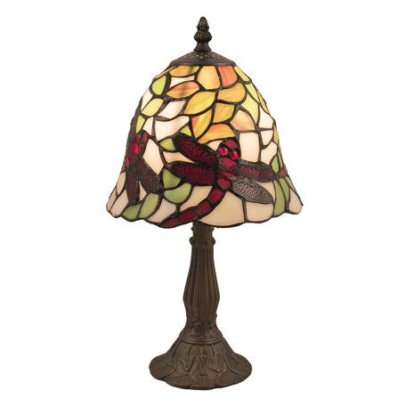 Tafellamp Tiffany ø 20*36 cm E14/max 1*40W Meerkleurig | 5LL-5940 | Clayre & Eef