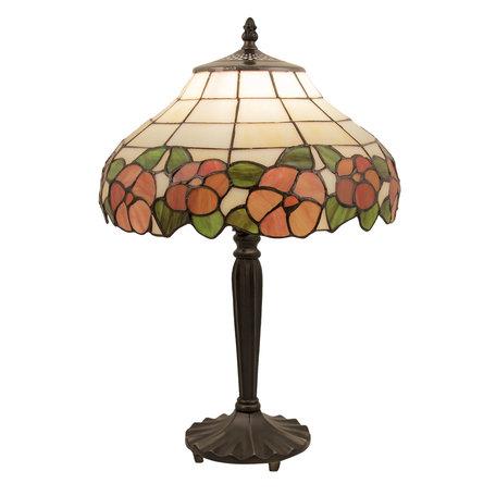 Tafellamp Tiffany ø 32*46 cm E27/max 1*60W Meerkleurig | 5LL-5941 | Clayre & Eef
