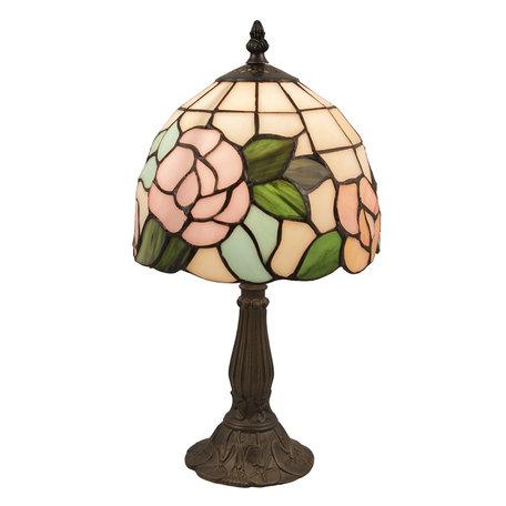 Tafellamp Tiffany ø 20*36 cm E14/max 1*40W Meerkleurig | 5LL-5943 | Clayre & Eef