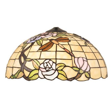 Lampenkap Tiffany ø 40*21 cm Meerkleurig | 5LL-5946 | Clayre & Eef