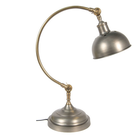 Tafellamp H65 cm E27/max 1*40W Grijs | 5LL-5953 | Clayre & Eef
