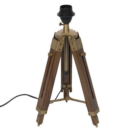 Tafellamp H65 cm E27/max 1*60W Bruin | 5LL-5959 | Clayre & Eef