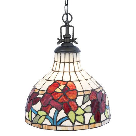 Hanglamp Tiffany ø 30*37 cm E27/max 1*60W Meerkleurig | 5LL-5960 | Clayre & Eef