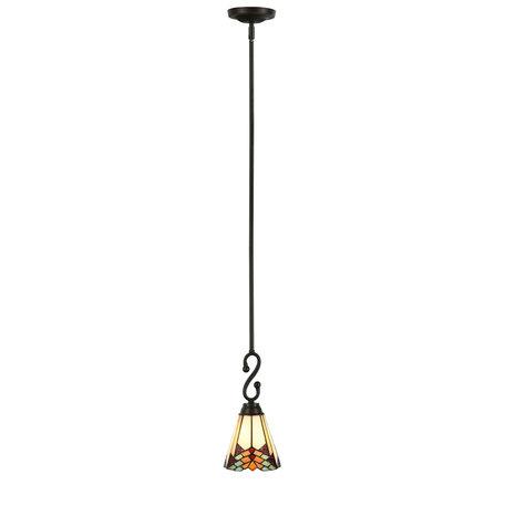 Hanglamp Tiffany ø 15*119 cm E14/max 1*60W Meerkleurig | 5LL-5965 | Clayre & Eef