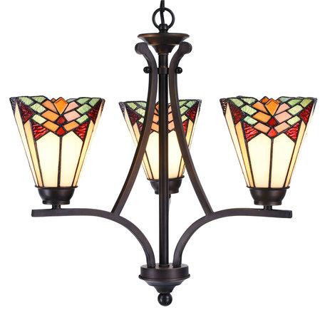 Hanglamp Tiffany ø 44*50 cm E14/max 3*60W Meerkleurig | 5LL-5967 | Clayre & Eef