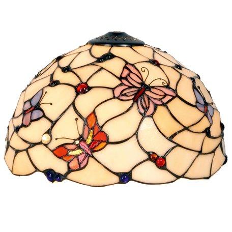 Lampenkap Tiffany ø 30*20 cm Meerkleurig | 5LL-770 | Clayre & Eef