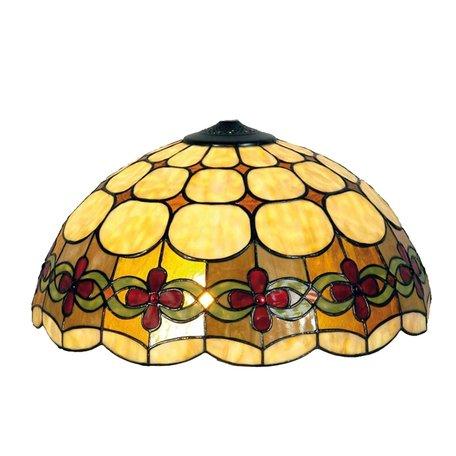Lampenkap Tiffany ø 40*23 cm Meerkleurig | 5LL-7807 | Clayre & Eef