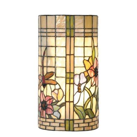 Wandlamp Tiffany 20*11*36 cm E14/max 2*40W Meerkleurig | 5LL-8825 | Clayre & Eef