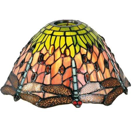 Lampenkap Tiffany ø 25*15 cm / KH 6 cm Meerkleurig | 5LL-8827 | Clayre & Eef