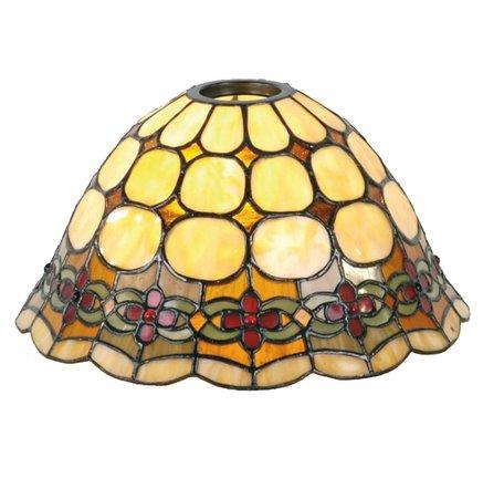 Lampenkap Tiffany ø 25*15 cm / KH 6 cm Meerkleurig | 5LL-8828 | Clayre & Eef