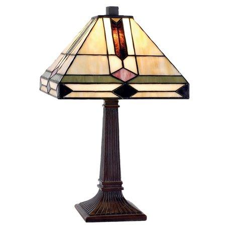 Tafellamp Tiffany 30*30*37 cm E14/max 1*40W Multi | 5LL-8830 | Clayre & Eef