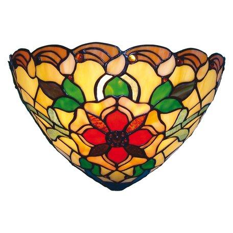 Wandlamp Tiffany 30*15*20 cm E14/max 1*40W Meerkleurig | 5LL-8841 | Clayre & Eef