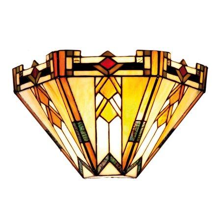 Wandlamp Tiffany 31*13*20 cm E14/max 1*40W Meerkleurig | 5LL-9263 | Clayre & Eef