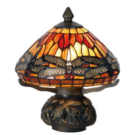 Tafellamp Tiffany ø 22*21 cm E14/max 1*40W Multi | 5LL-9295 | Clayre & Eef