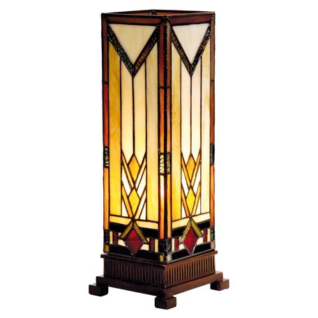 Tafellamp Tiffany 12*12*35 cm E14 / max 1*40W Bruin | 5LL-9331 | Clayre & Eef