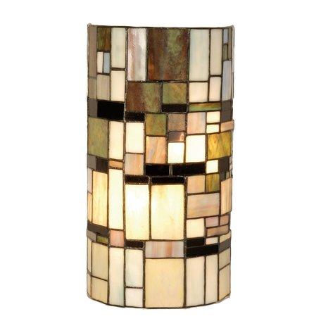 Wandlamp Tiffany 20*11*36 cm E14/max 2*40W Meerkleurig | 5LL-9994 | Clayre & Eef