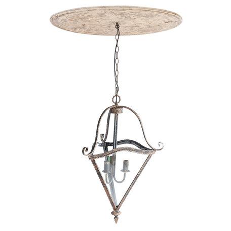 Hanglamp ø 70*114 cm E14/max 3*25W Wit | 5LMP185 | Clayre & Eef