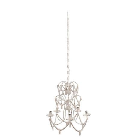 Hanglamp 61*59*70 cm E14/max 5*25W Wit | 5LMP198 | Clayre & Eef
