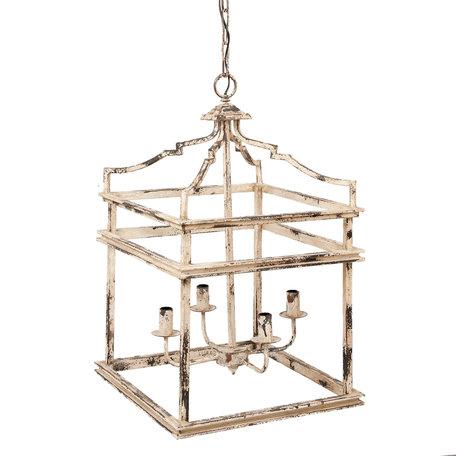 Hanglamp 47*47*76 cm E14/max 4*25W Wit | 5LMP214 | Clayre & Eef