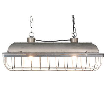 Hanglamp 60*20*25 cm E27/max 2*40W Grijs | 5LMP224 | Clayre & Eef
