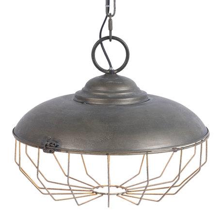 Hanglamp ø 37*32 cm E27/max 1*40W Grijs | 5LMP233 | Clayre & Eef