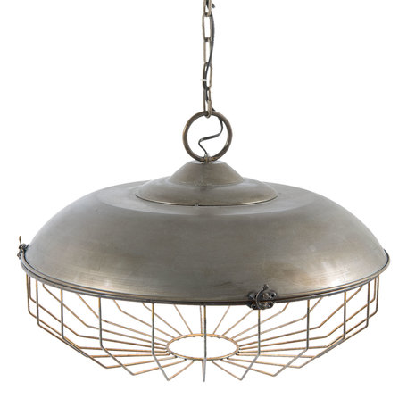 Hanglamp ø 52*37 cm E27/max 1*40W Grijs | 5LMP234 | Clayre & Eef