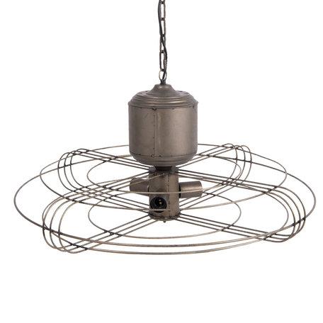 Hanglamp ø 78*41 cm E27/max 3*40W Grijs | 5LMP235 | Clayre & Eef