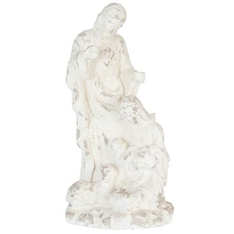 Kerstgroep beeld 35*21*71 cm Wit   5PR0035   Clayre & Eef