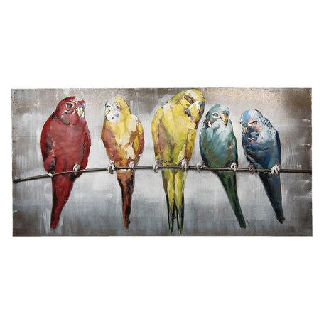 Wanddecoratie vogels 120*60*7 cm Meerkleurig | 5WA0113 | Clayre & Eef