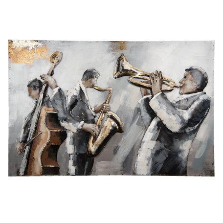 Wanddecoratie muzikanten 90*6*60 cm Multi | 5WA0121 | Clayre & Eef