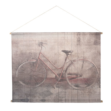Wandkaart fiets 124*95*3 cm Multi | 5WK0026 | Clayre & Eef