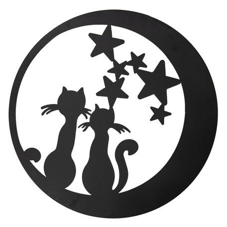 Wanddecoratie katten ø 60 cm Bruin | 5Y0497 | Clayre & Eef