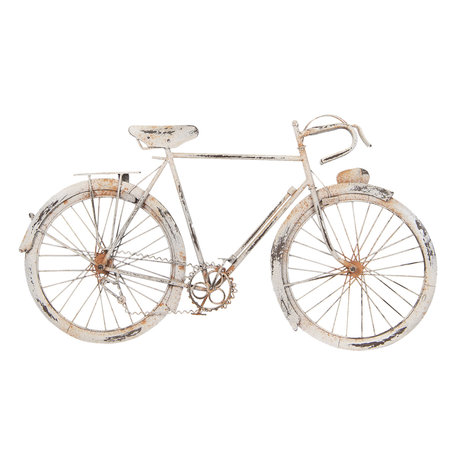 Wanddecoratie fiets 62*5*34 cm Wit | 5Y0514 | Clayre & Eef